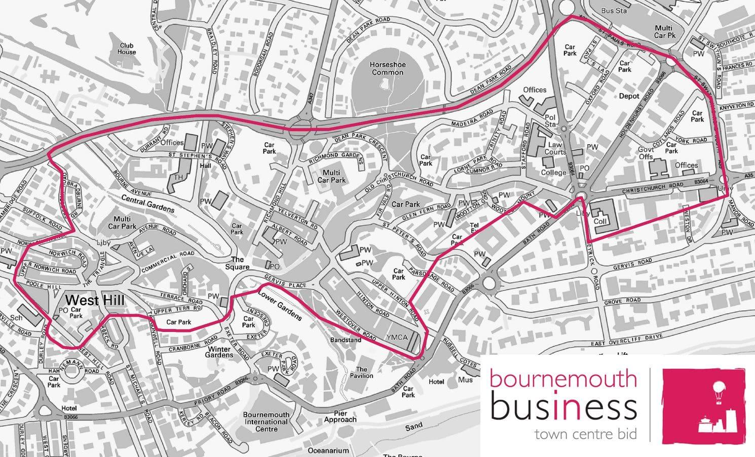 Town Centre BID Map