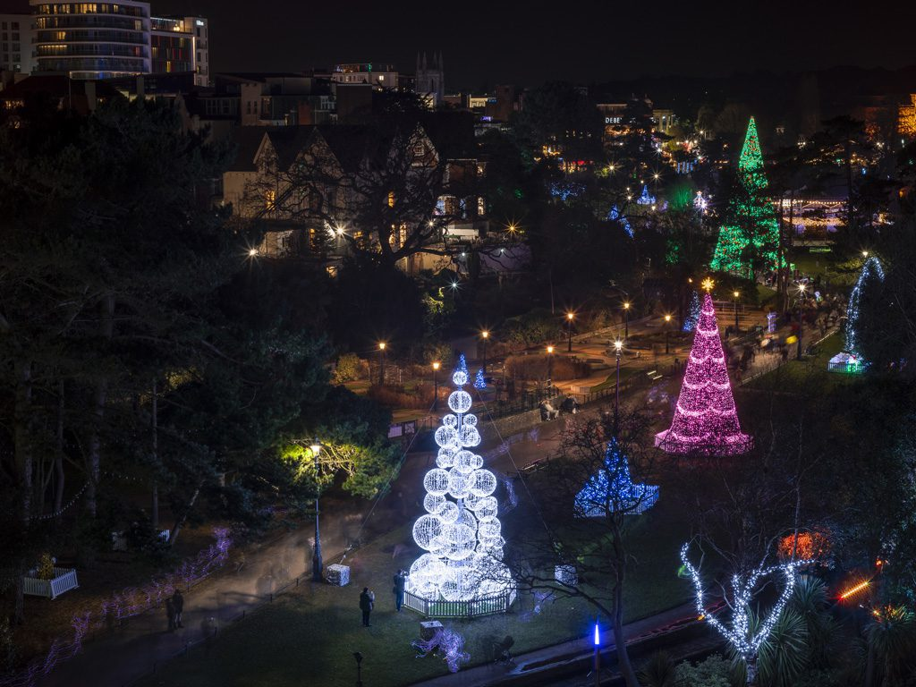 Christmas Tree Wonderland Bournemouth Coastal Bid.Christmas Tree Wonderland Wins National Award Town Centre Bid