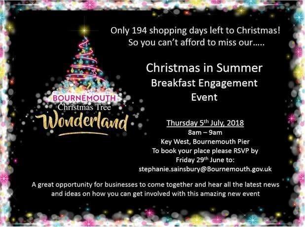 Christmas Tree Wonderland Bournemouth Coastal Bid.Christmas Tree Wonderland Business Engagement Event Town